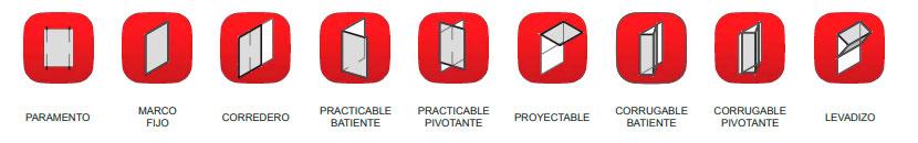 Aplicación de los sistemas de celosía: fijo, corredero, practicable, corrugable, levadizo...
