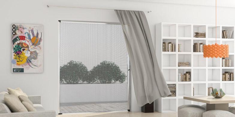 mosquiteras enrollables de apertura vertical para ventanas