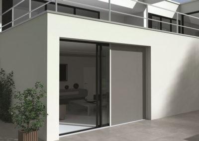 cortina exterior deslizante horizontalmente