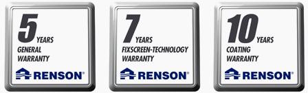 RENSON Fixscreen con garantía de lacado de 10 años