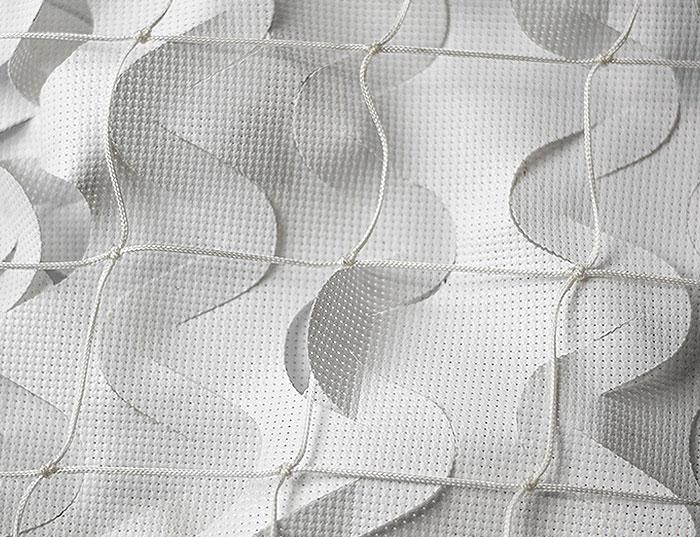red sombreo de diseño ondulado
