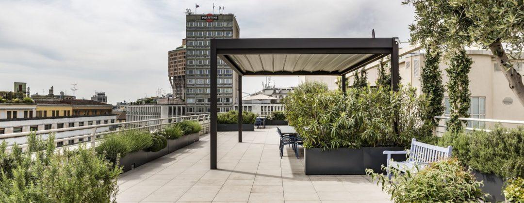 pergola tela ondulada para terraza