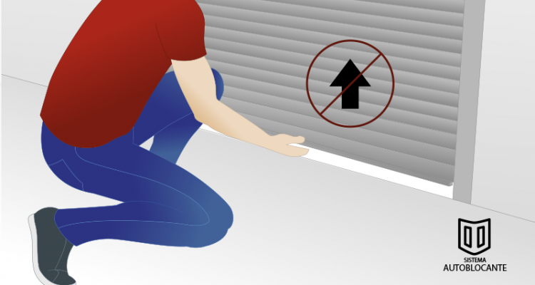Sistema de seguridad antirrobo para persianas enrollables