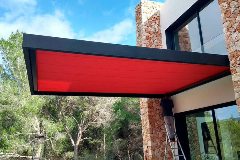 toldo veranda empotrado estructura