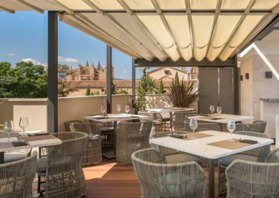Pergolas on the rooftop of the Hotel Llorenç – Calatrava