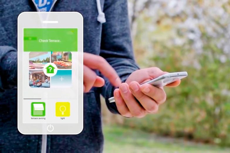 terraza automatizacion smartphone