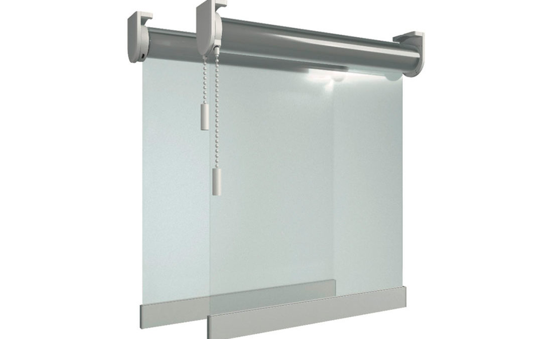 Roller blinds made of PVC for COVID-19 protection