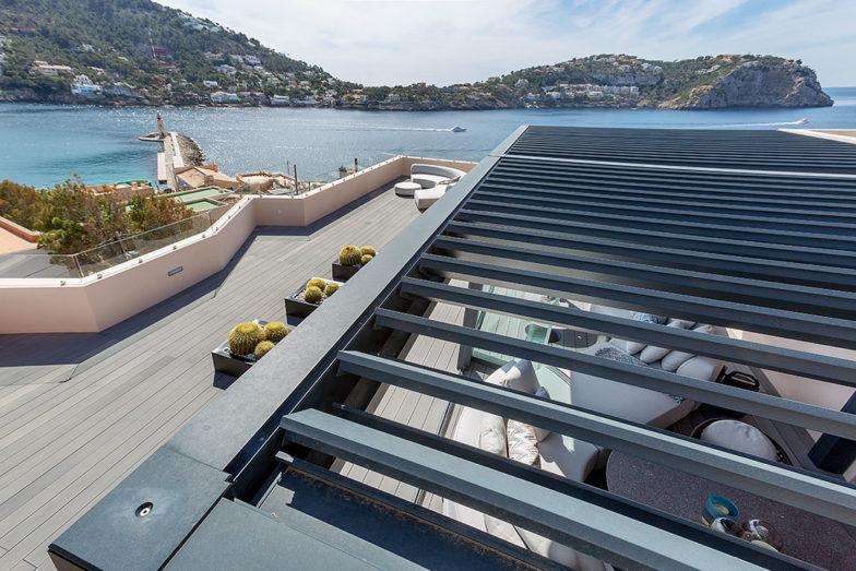 vista superior pergola Renson Camargue Mallorca